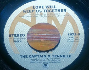 Captain & Tennille Love Will Keep Us Together Vintage 45 RPM Record