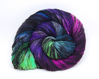 "Acoustic Sock Yarn - ""Unicorns Vs. Sharpies"" - Handpainted Superwash Merino - 400 Yards"