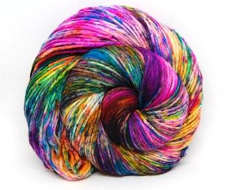 """Indie Rock Worsted Yarn - """"Supernova"""" - Handpainted Superwash Merino - 218 yards"""