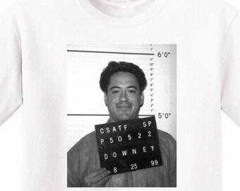 Robert Downey Jr's Mugshot 1999 Men's T-Shirt