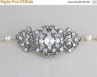 SALE Crystal Bridal bracelet, Wedding bracelet, Bridal jewelry, Swarovski bracelet, Statement bracelet, Cuff bracelet, Vintage style bracele