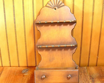 Colonial Style Spoon Rack Wall Box Planter