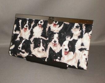 Wallet - DIVA Wallet - Clutch Wallet - Dog - Border Collie