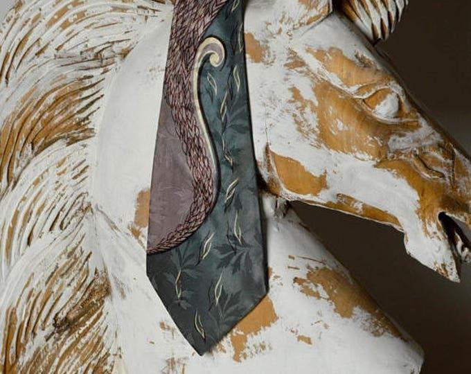sale Mens Ties,1940s Tie, Wide Tie, Silk Tie, Rockabilly Tie, Swing Dance Tie, Mens Neckties, 40s Tie, Vintage Tie, Art Deco Tie