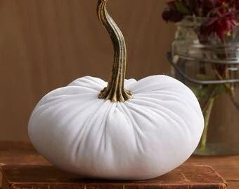 Scented Velvet Pumpkin, WHITE