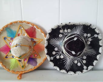 Vintage Set of 2  Mini Sombreros For Pets