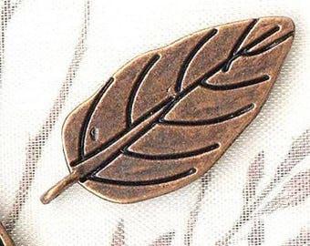 10 x 30x13mm - MAT1616 copper leaf charms