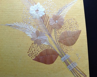 Flower bouquet Handmade with rice leaves! Unique gift collectible art Have U seen it? See it TODAY  Please Retweet. Ancient & endangered art