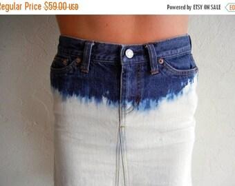 40% SUMMER SALE Dip Dyed Mid-Length Skirt