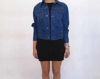 40% OFF CLEARANCE SALE The Vintage Dark Wash Key Denim Jacket