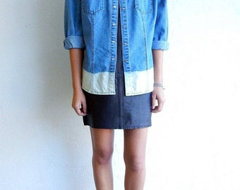 40% OFF Ombre Light Wash Shirt with Pockets