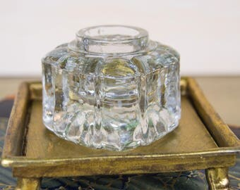 Crystal Inkwell Insert - Antique