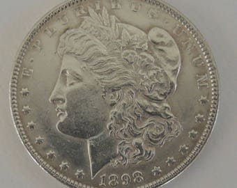 Vintage 1898 Morgan Silver Dollar - Collectable Silver Dollar - Rare Coins, Silver Coins, USA Coins, FREE Shipping
