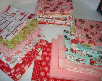 Lil Red & Just Another Walk by Stacy Iset Hsu for Moda Fat Quarter Set  YES!! Shipping is combined and refunds are given