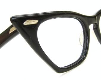 Vintage Pointy 50s Cat Eye Eyeglasses Frame