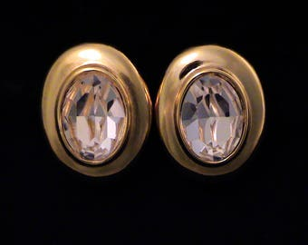 Vintage GIVENCHY Crystal Evening Earrings