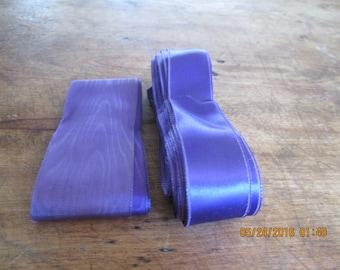 Ribbon, vintage satin remnants 2 pieces 1 price 1940's 2-3 yds each