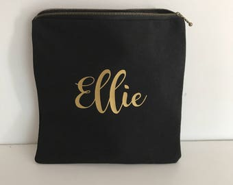 Personalised Zippered Pouch/Name Pouch