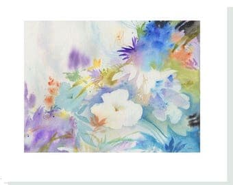 Blue Mood Watercolor Note Cards