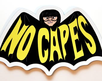 NO CAPES The INCREDIBLES Edna Mode refrigerator magnet (3 inches)