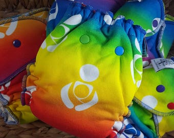 Babywearing Rainbow - One Size (11-35#) Cloth Diaper (Hybrid, Windpro, Bamboo, OBV, Velour, Cotton, Baby, Wear, Advocacy, Nappy, Nappies)