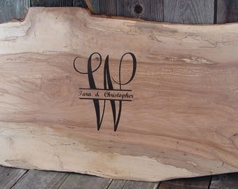 Tree Slab Guest Book, Log Slice, nontraditional rustic guest book, personalized wedding sign, alternative guest signatures, nontraditiona