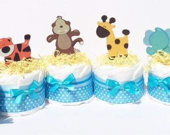 Jungle Centerpieces, diaper centerpiece Safari Baby Shower Centerpieces, Jungle diaper cake jungle diaper cake Diaper Centerpieces