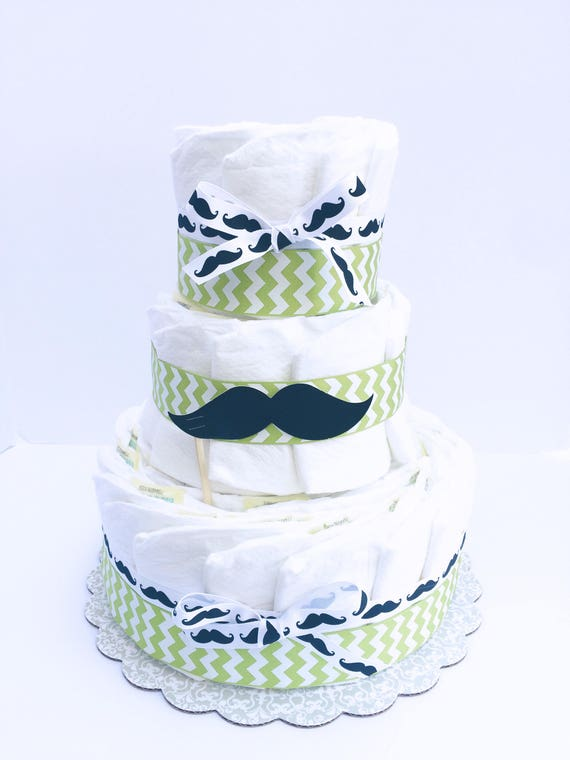 Mustache Diaper Cake Mustache Baby Shower Decorations Mustache