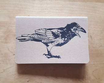 Horizontal Two Headed Raven Notebook