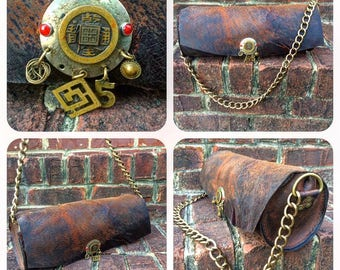 Handmade Bag Featuring Upcycled Marjorie Baer Jewelry