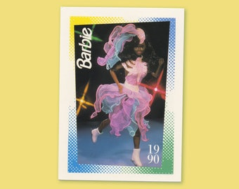 """Barbie Collectible Trading Card - """"Ice Capades Barbie Fashions""""-Glamour on Ice Card No. 230 for Barbie collectors, dioramas, 1990  1188-0243"""