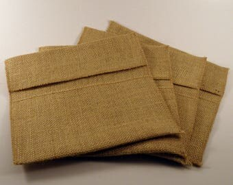 Burlap envelope. Rustic burlap envelope. Burlap Pocket. Burlap Cultery Holder. Jute pocket for silverware and table decoration.Jute wrapping
