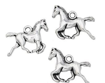 10 pcs Running Horse Charms