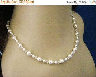 ON SALE Bridesmaid Jewelry Set of 5 Pretty in Pearls Bridal Necklaces