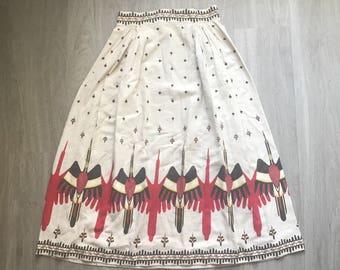 Vintage 70s Thunderbird Maxi Skirt