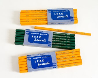 """Vintage Superior Lead Pencil One Dozen NOS / """"Friendliness Is A Milwaukee Road Tradition"""" Railroad Advertisement / Your Choice of #2 or #3"""