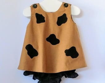 Vintage Baby and Toddler Pebbles Flintstone Costume
