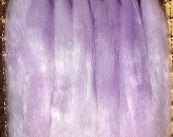 Combed Suri Alpaca Doll Hair 11-12 inches long Half Ounce  Lavender and Pink Ice