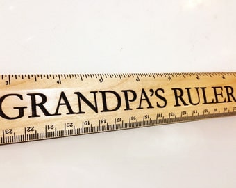 Personalized Maple Ruler - Laser Engraved