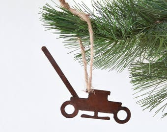 Lawn mower Ornament /Rusty Metal Ornament /Christmas Gift/Christmas Ornament /Stocking Stuffer /Gifts for Him/ Gift for Lawnboy/ Lawnservice