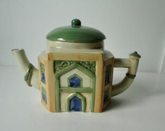1982 House of KATAYAMA Ceramic Mosque shaped Teapot. Free Sh.