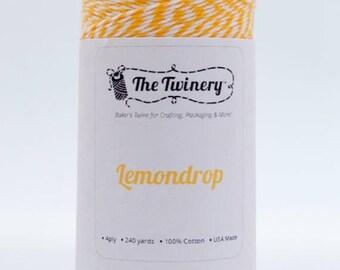 25% Off Summer Sale Full Spool - 240 Yards - Lemondrop/Marigold Yellow Baker's Twine