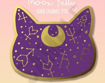 Moon Kitty Hard Enamel Pin [PREORDER]