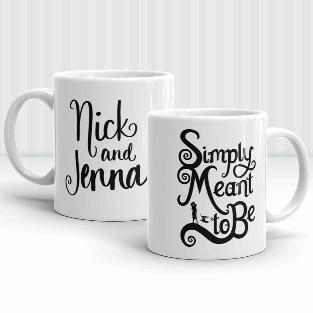 Simply Meant to Be | Couple Names | 11oz or 15oz Mug | Personalized Names