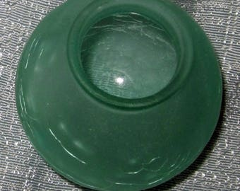 "Frankart 3"" Dia. 1-1/2"" fitter lamp globe 1920's art deco frosted Green glass"