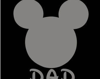 SALE Mickey Mouse Dad SVG JPEG instant digital file download for vinyl cutters