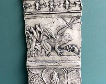 Frog Ceramic Pottery Porcelain Relief Tile