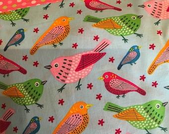 Many Colorful Whimsical Birds, Standard/Twin Pillowcase, Charity Item, MadebyKids4Kids