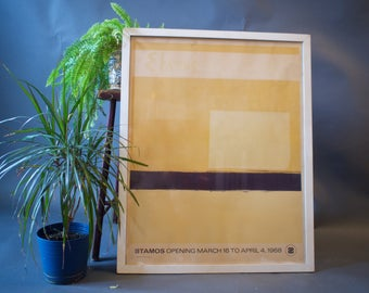 Theodoros Stamos Screen Print Gallery Poster Abstract Expressionist  Artist / Mid Century Art