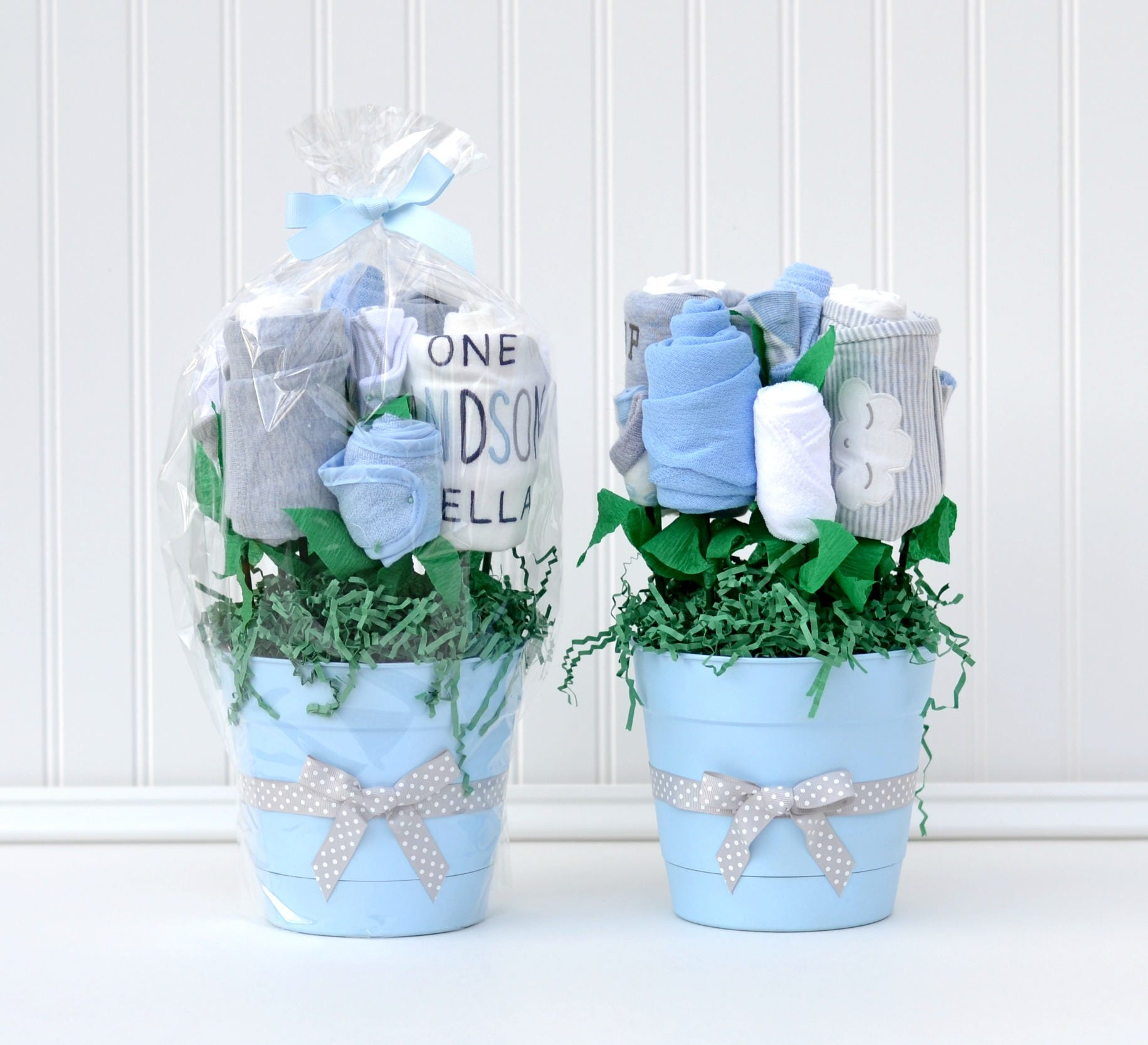 Boy baby shower centerpieces decorations